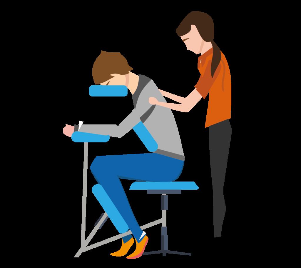 Stoelmassage op het werk
