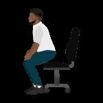 gezonde werkgewoonte sta op vanachter je bureau