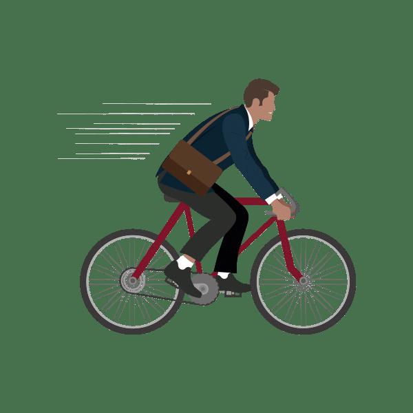 Fietsen naar je werk de fiets flex dag