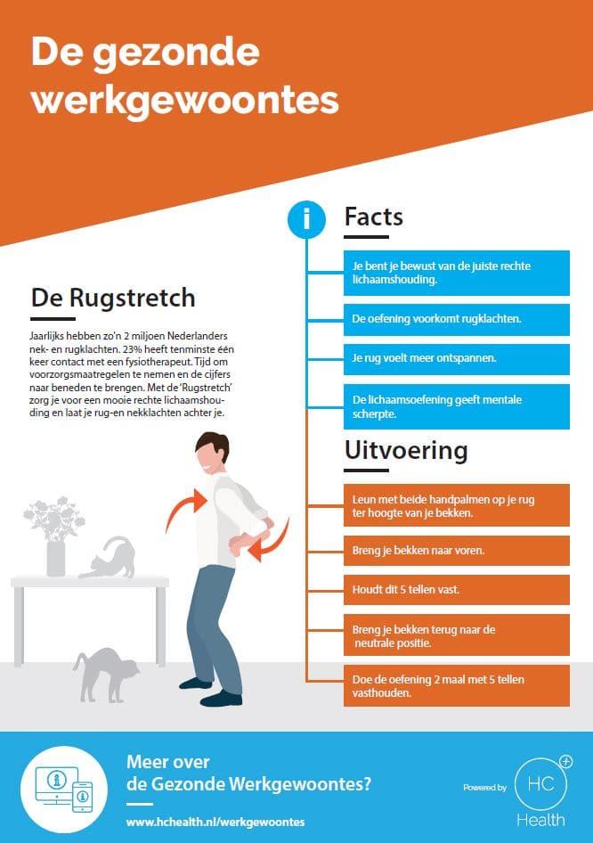 de rugstretch gezonde werkgewoontes factsheet