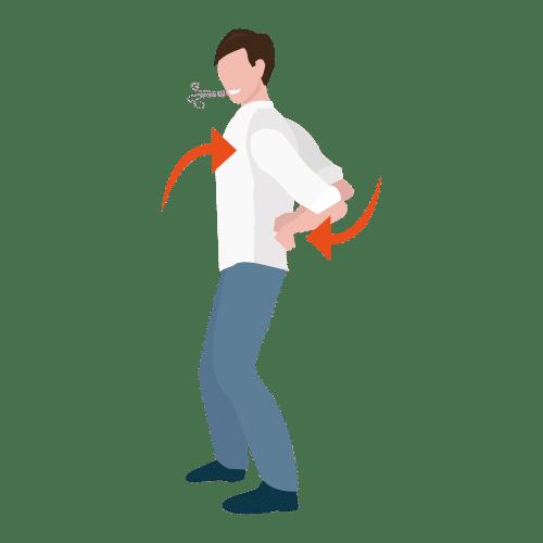 rugstretch gezonde werkgewoonte