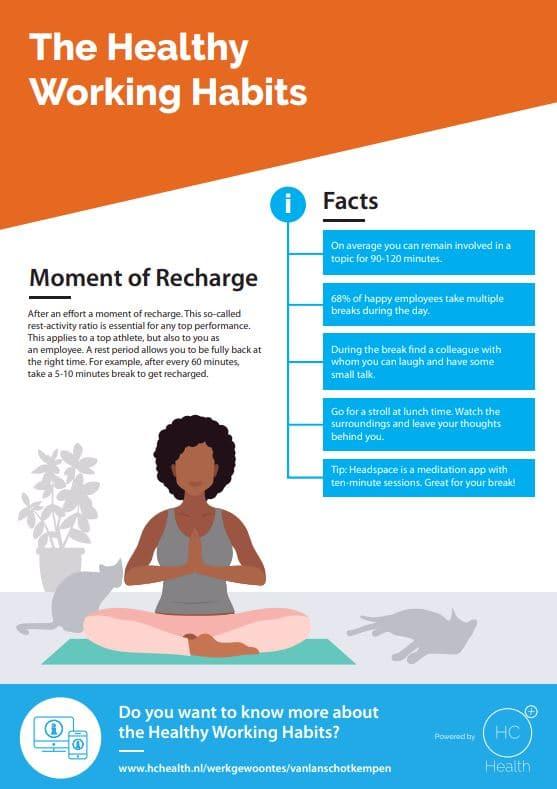 yoga exercises relaxing employees