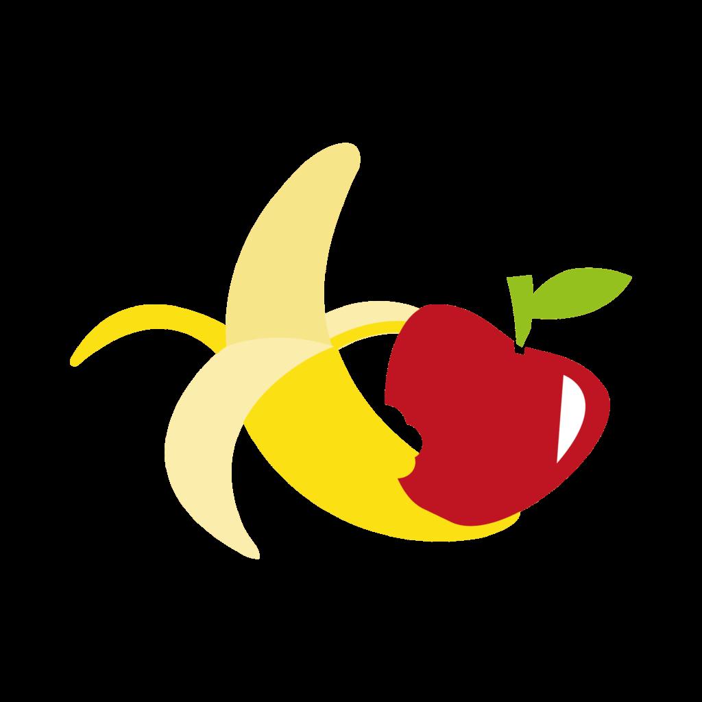 Appel en een banaan