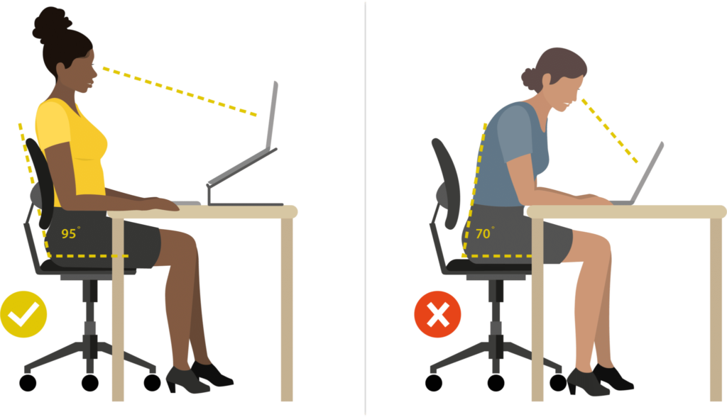 Arbo richtlijnen stoel thuiswerkplek inrichten - werkhouding